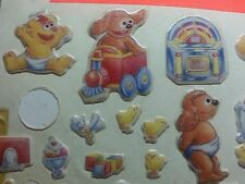 vtg 80's stickers puffy Muppet Babies Animal Fozzie gonzo ms piggy rowlf  8 +