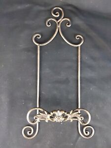 """Vintage 19"""" Tall Metal Plate Hanger For large Plates"""