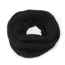 Women Winter Soft Black Knit Cowl Neck Warmer Long Scarf Shawl Wrap