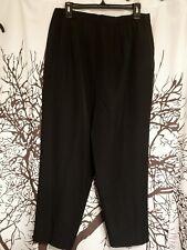 Liz Baker brand elastic back black dress pants women's plud size 20