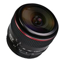 Meike 6.5 mm APS-C F/2.0 Gran Angular Lente Ojo de Pez de enfoque manual para Sony E-Mount
