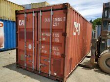 Used 20 Dry Van Steel Storage Container Shipping Cargo Conex Seabox Salt Lake