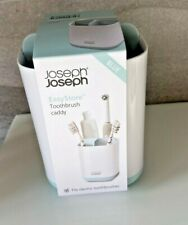 JOSEPH JOSEPH EASY STORE BATHROOM TOOTHBRUSH CADDY HOLDER BLUE/WHITE