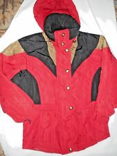 COULOIR Women Red & Black Ski/Snowboard Coat~Sz 10-Att. Hood-EUC