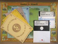 Exodus Ultima III Atari Commodore Origin Systems 1983 2 Disk Set w/ Map