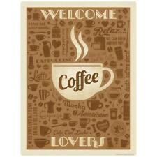 Welcome Coffee Lovers Decal Peel and Stick Decor