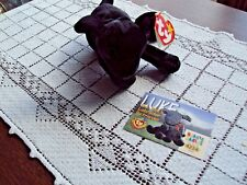 Ty Beanie Baby Luke Black Lab and The Official Club Card Series II Gasport Word