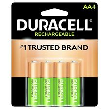4/pack Duracell AA Rechargeable Batteries AA4 1.2V NiMH DX1500 New Packaging