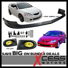 Fits Acura RSX Front Bumper Lip Poly-Urethane PU Material + Yellow Fog Lights