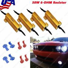 4x 50W 6-OHM Load Resistors Relay for Flash Turn Signal Blink Blinker LED Bulb