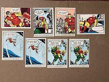 1966 Superhero Iron Man Trading Cards (9) Donruss
