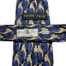 24/40 ROBERT TALBOTT SEVEN FOLD Floral Neck Tie Blue Gold Italy Silk