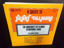 University of Illinois Symphonic Band A Salute to Henry Fillmore vinyl LP EX