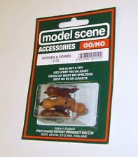 Modelscene Accessories 5105 - Horses & Ponies (00)  - Railway Models