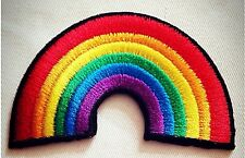 RAINBOW EMBROIDERY  BADGE IRON-ON, SEW-ON PATCH