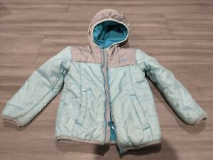 Champion girls  3T Winter Jacket light blue baby blue and gray fleece lined