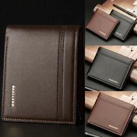 Stylish Mens Leather Wallet Slim Purse Bifold Credit ID Card Holder Purse Clutch