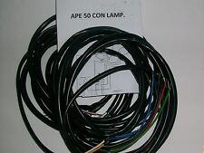 IMPIANTO ELETTRICO ELECTRICAL WIRING APE 50 CON FRECCE E SCHEMA ELETTRICO