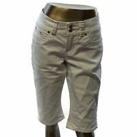 Seven 7 FOR ALL MANKIND Womens White Denim Crop Capri Pants Jeans Size 8