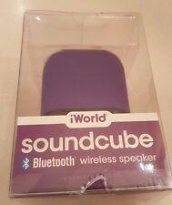 Bluetooth-iWorld-Cube-Bluetooth-Portable-Speaker-Purple