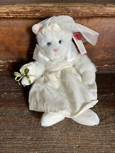 Russ White Lace & Promises Bride Cat Kitten with Original Tag