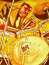 BUDDY RICH PRINT poster drums ludwig sessions mosaic cd big band recording snare