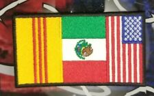Vietnam Mexico American flag patch