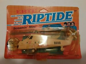 Riptide ERTL #1076 Screamin Mimi Helicopter Die cast on Card screaming unpunched