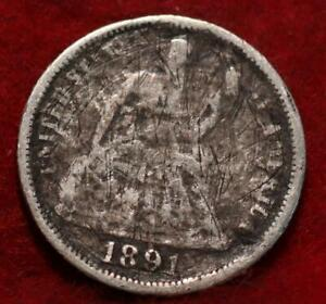 1891-O New Orleans Mint Seated Liberty Dime