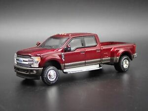 2019 19 FORD F350 LARIAT TRUCK DUALLY W/ HITCH RARE 1:64 SCALE DIECAST MODEL CAR