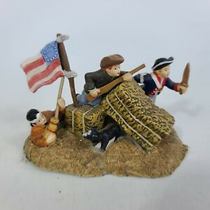 2005 Dept 56 New England Villages Series LITTLE PATRIOTS AT PLAY- Altered
