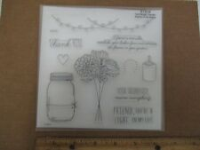 Candlelight Garden - S1512 CTMH Close to My Heart Acrylic STAMPS Set Flowers Jar