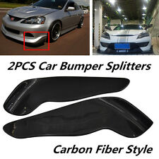 Pair Wing Type Carbon Fiber Style Car Racing Front Bumper Lip Diffuser Splitters