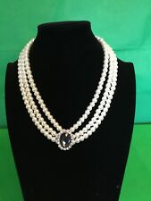 Pearl And Diamanté Choker