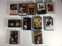 Vintage Cassette 13 Lot Tape Lot, Nat King Cole, Elton John, America, Elvis