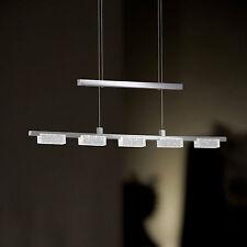 Wofi lumière pendante LED Lara 5-flg Chrome Verre Réglable en hauteur 25 Watt