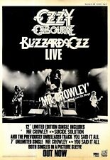 "NPBK29 ADVERT 15X11"" OZZY OSBOURNE : BLIZZARD OF OF LIVE MR CROWLEY"