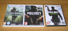 3 jeux nintendo wii - Call of duty black ops + Modern warfare 3 + Modern warfare
