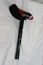 THE Mini/Junior BMX Racing Seat & Post Red-Blk 25.4 New