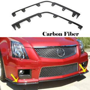 Carbon Fiber Front Bumper Lip Splitter Flaps Fit for 09-15 Cadillac CTS-V Coupe