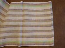 Green Olive Brown Stripe Decor Fabric Narrow 19″ x 5 Yards Pillow Ruffle Kitchen