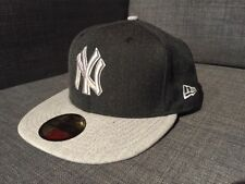New Era New York Yankees Fitted Hat MLB Gray Mens Size 7 1/4