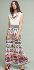 nwt anthropologie elma Embroidered Maxi Dress XS