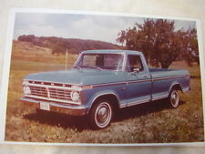 1974 FORD F100 PICKUP TRUCK  COLOR 11 X 17  PHOTO  PICTURE
