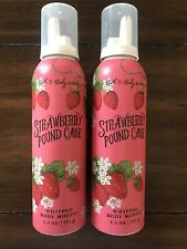 Bath & Body Works Strawberry Pound Cake Whipped Body Mousse Lotion Lot Of 2
