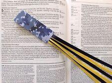 MILITARY SERIES 6 ribbon bookmark multi page US NAVY handmade digital camo