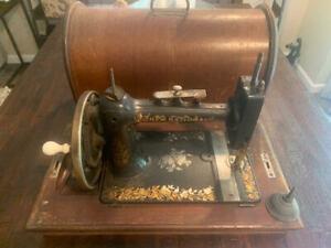 Rare Antique New National Light Running New Home Hand Crank Sewing Machine