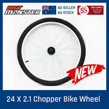 24 Inch 24 X 2.10 Sleek Front Wheel And Tyre Custom Harley Bike Stingray Chopper