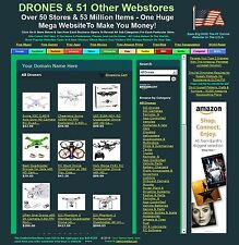 DRONE BUSINESS FOR SALE -  INCLUDES 51 DIFFERENT WEBSTORES & 53 MILLION ITEMS!