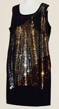 WOMEN PLUS SIZE 2X 22 SPARKLY SEQUIN STUDDED BLACK SWEATER KNIT DRESS NEW NWT